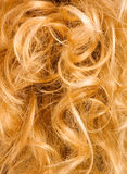 Het krullende haar van de blonde - achtergrond Royalty-vrije Stock Foto's