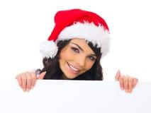 Het kuiken van Kerstmis met raad Stock Foto
