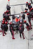 Het kuiltjes maken in van Lucas Di Grassi bij Maleise F1 Royalty-vrije Stock Afbeeldingen