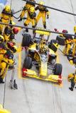 Het kuiltjes maken in van Robert Kubica bij Maleise F1 Royalty-vrije Stock Afbeeldingen