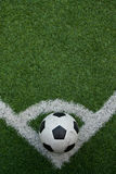 Het kunstmatige gebied van het grasvoetbal Royalty-vrije Stock Foto's
