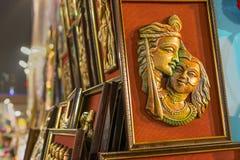 Het kunstwerk, Indische ambachtenmarkt in Kolkata Stock Afbeeldingen