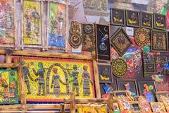 Het kunstwerk, Indische ambachtenmarkt in Kolkata Royalty-vrije Stock Foto