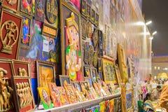 Het kunstwerk, Indische ambachtenmarkt in Kolkata Royalty-vrije Stock Foto's