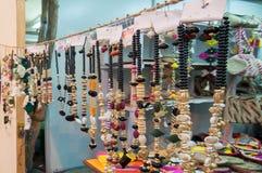 Het kunstwerk, Indische ambachtenmarkt in Kolkata Stock Foto's