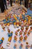 Het kunstwerk, Indische ambachtenmarkt in Kolkata Stock Fotografie