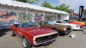 Het kunstwerk van Chevrolet Camaro bij de Woodward-Droomcruise Royalty-vrije Stock Fotografie
