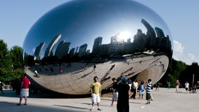 Het Kunstwerk van Chicago - de Boon - Tijdtijdspanne stock video