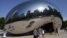 Het Kunstwerk van Chicago - de Boon - Tijdtijdspanne stock videobeelden
