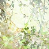 Het Kunstwerk van de Bloemen van de Vlinder van de pastelkleur vector illustratie