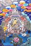Het kunstwerk van de godsdienst over boeddhisme royalty-vrije stock afbeeldingen
