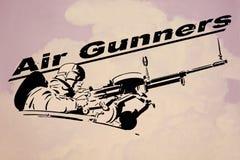 Het kunstwerk van de luchtartillerist Wereldoorlog ll stock afbeelding