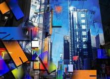 Het Kunstwerk van de stadsarchitectuur Stock Afbeeldingen