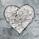 Het kunstwerk van het hart Stock Foto