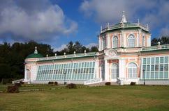 Het Kuskovo-landgoed in Moskou, Rusland Stock Foto