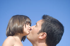 Het kussen en het houden van Stock Afbeelding