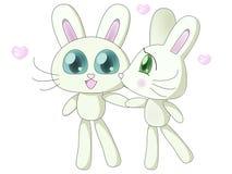 Het kussen konijnen Stock Afbeeldingen