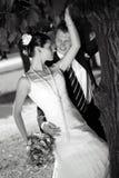 Het kussen van de bruid en van de bruidegom Royalty-vrije Stock Afbeelding