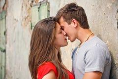 Het kussen van het paar Royalty-vrije Stock Foto