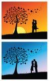 Het kussen van het paar stock illustratie