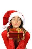 Het kussen van Kerstman Royalty-vrije Stock Fotografie