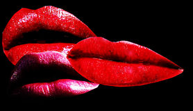 Het kussen van u Stock Foto's
