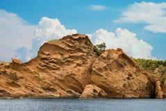 Het kustbos in Calanque royalty-vrije stock afbeeldingen