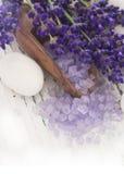 Het kuuroord van de lavendel het plaatsen Royalty-vrije Stock Foto