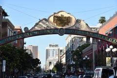 Het Kwart van de gaslamp in San Diego, Californië royalty-vrije stock foto's