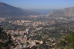 Het kwart ZEN van het panorama ° en overzees, Palermo Royalty-vrije Stock Fotografie