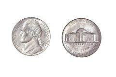 Het kwartdollar van Amerika royalty-vrije stock foto