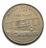 Het kwartdollar van Noord-Carolina Stock Foto