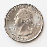 Het Kwartdollar van Verenigde Staten Stock Afbeelding