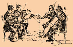 Het kwartet van de musicus vector illustratie