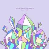 Het kwarts van de kristalregenboog in pastelkleuren Royalty-vrije Stock Fotografie