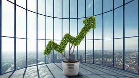 Het kweken van het economiebedrijf het 3d teruggeven royalty-vrije illustratie