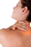 Het kwetsen van hals en schouder Stock Foto