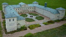 Het Kynžvart-kasteel - minimodel Royalty-vrije Stock Afbeelding