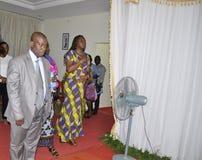Het laatste huis van de moeder van President Laurent Gbagbo Royalty-vrije Stock Foto
