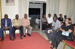 Het laatste huis van de moeder van President Laurent Gbagbo Stock Foto