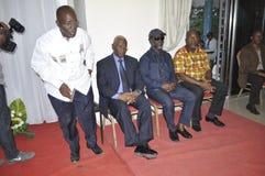 Het laatste huis van de moeder van President Laurent Gbagbo Stock Foto's