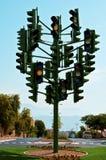 Het laatste verkeerslicht in Eilat, Israël Stock Fotografie