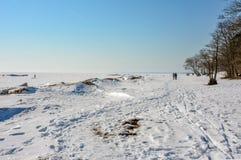 Het laatste weekend van Maart op de Golf van Finland Royalty-vrije Stock Afbeelding