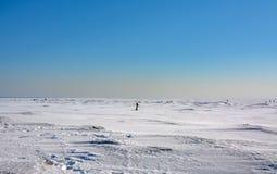 Het laatste weekend van Maart op de Golf van Finland Stock Afbeeldingen