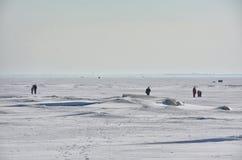Het laatste weekend van Maart op de Golf van Finland Royalty-vrije Stock Afbeeldingen