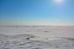 Het laatste weekend van Maart op de Golf van Finland Stock Fotografie