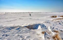 Het laatste weekend van Maart op de Golf van Finland Royalty-vrije Stock Foto