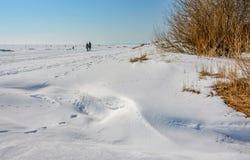 Het laatste weekend van Maart op de Golf van Finland Stock Foto's