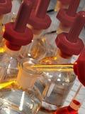 Het Laboratorium van de wetenschap - de Flessen van de Reagens Royalty-vrije Stock Afbeelding