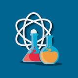 Het laboratorium van de wetenschapschemie vector illustratie